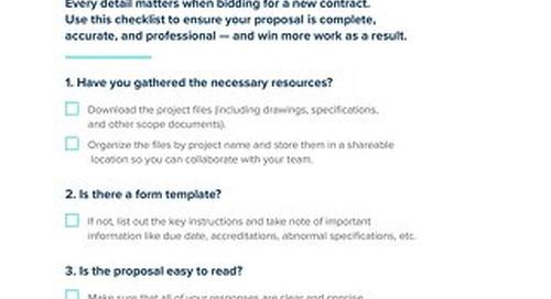 Bid Submission Checklist