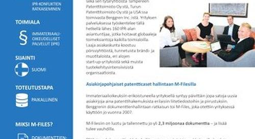 Tapauskuvaus: Berggren Oy Ab