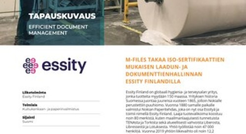 Tapauskuvaus: Essity Finland