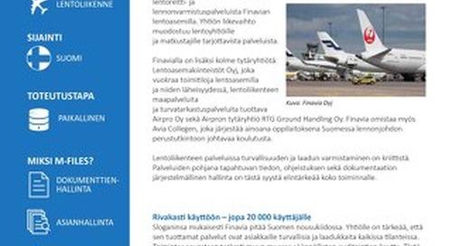 Tapauskuvaus: Finavia Oyj