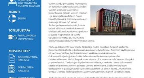 Tapauskuvaus: Technopolis Oyj