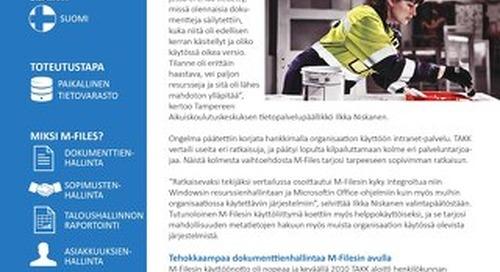 Tapauskuvaus: Tampereen aikuiskoulutuskeskus (TAKK)