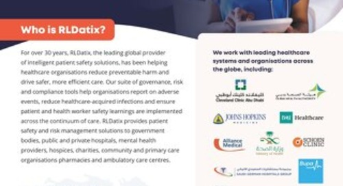 RLDatix: Helping to Keep Patients & Health Workers Safe