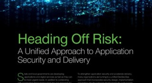 Unify to Optimize Application Security and Delivery: An Issue Brief for SLED