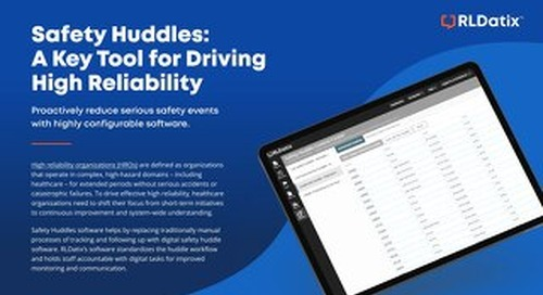 Safety Huddles: A Key Tool for Driving High Reliability