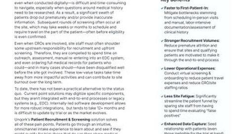 Patient Recruitment & Screening