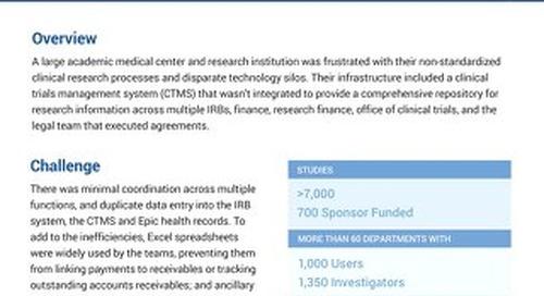 WCG Velos Case Study - Cancer Center