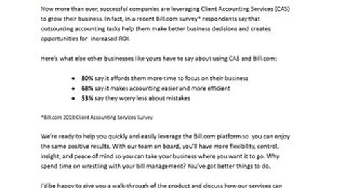 CAS Email Template: Why smart business owners outsource