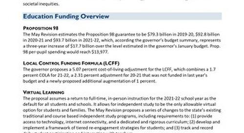 2021-22 May Budget Revision Analysis