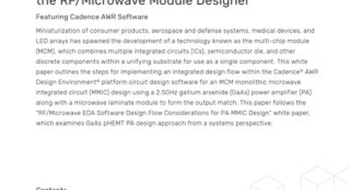 EDA Software Design Flow Considerations for the RF/Microwave Module Designer