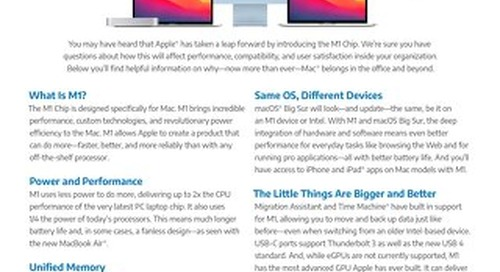 M1 Chip for Mac Has Arrived