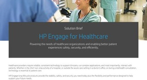 HP Engage for Healthcare
