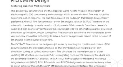 The Importance of EM Analysis for RF/ Microwave Design