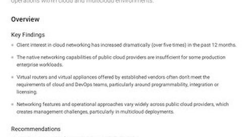 Gartner Cloud Networking Market Guide 2021