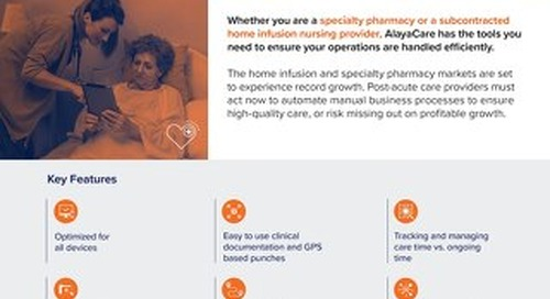 Home infusion nursing software