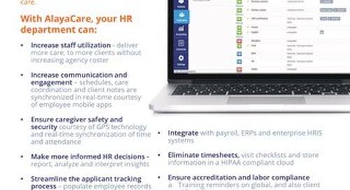 AlayaCare for HR