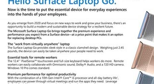 Goodbye desktop. Hello Surface Laptop Go.