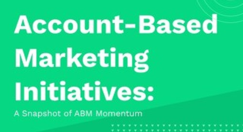 Account-Based Marketing Initiatives: A Snapshot of ABM Momentum