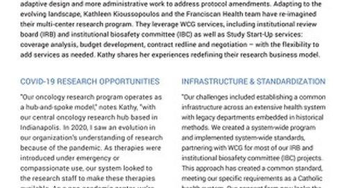 WCG MRS Case Study -  Franciscan Health