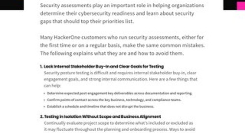 Top 5 Common Security Assessment Mistakes and How to Avoid Them