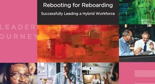 CEG Rebooting for Reboarding 2021