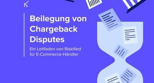 Beilegung von Chargeback Disputes