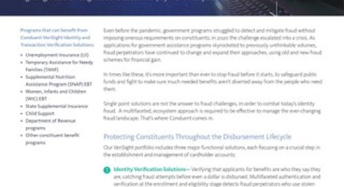 Conduent VeriSight Identity and Transaction Verification Solutions
