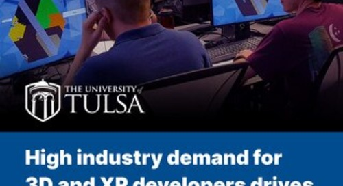 High industry demand for 3D and XR developers drives the University of Tulsa to adopt Unity
