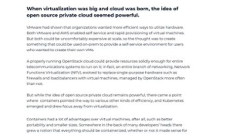 White Paper: How Kubernetes Saved OpenStack