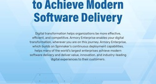 Extending Spinnaker to Achieve Modern Software Delivery