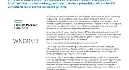 Wind River, Hewlett Packard Enterprise, & Intel Deliver 5G vRAN