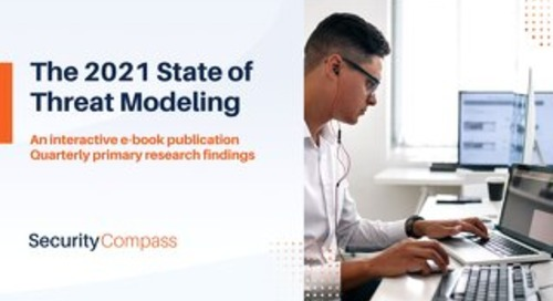 The 2021 State of Threat Modeling:  An interactive e-book publication