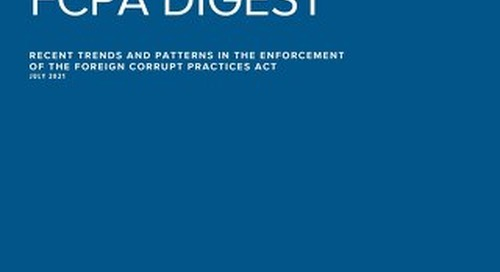 FCPA Digest - Trends & Patterns Article (July 2021)