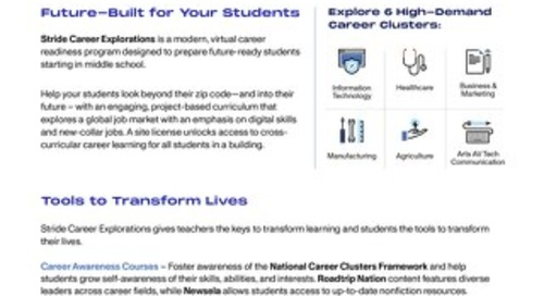 Stride Career Explorations for Middle School