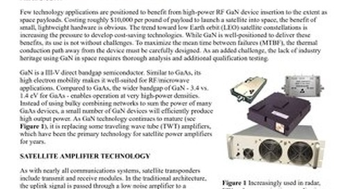 Article:  GaN SSPA Technology for Space-Based Applications