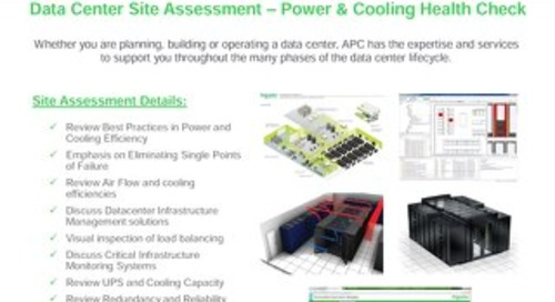 Data Center Site Assessment – Power and Cooling Health Check - APC
