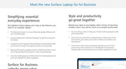 Surface Laptop Go Fact Sheet