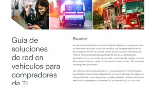 Vehicle Network Solutions Guide for IT - Spanish (EU)
