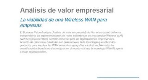 Viabilidad de la WAN inalámbrica para empresas