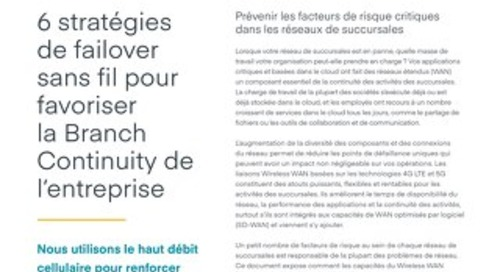 6 Wireless Failover Strategies – French (EU)