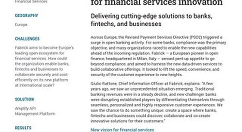 Fabrick creates an open platform for financial services innovation