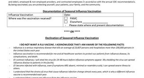 Influenza Vaccination Documentation - 0919