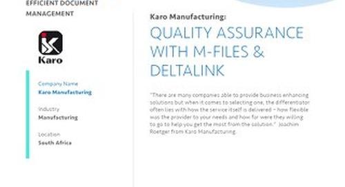 Case Study: Karo Manufacturing