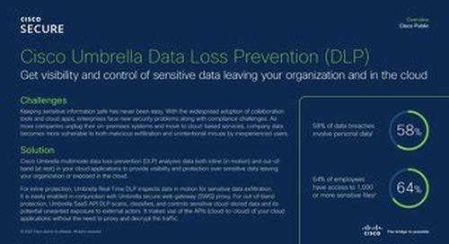 Cisco Umbrella Data Loss Prevention (DLP)