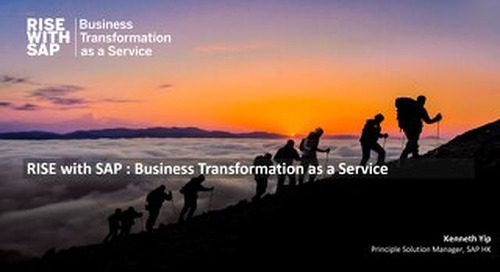 RISE with SAP on AWS to Unleash the Business Operational Efficiency