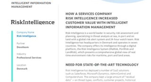 Case Study: Risk Intelligence