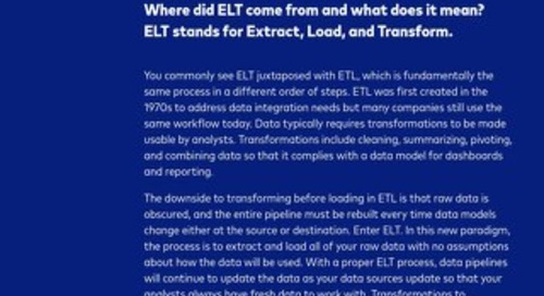What is Fully Managed ELT?
