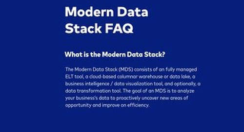 What is a Modern Data Stack?