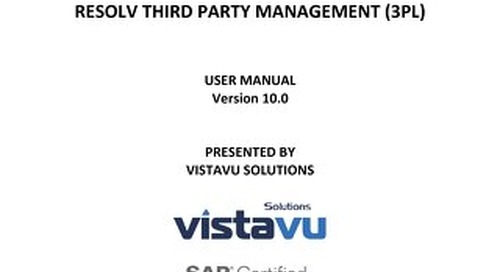 User Guide | Third Party Management (3PL)