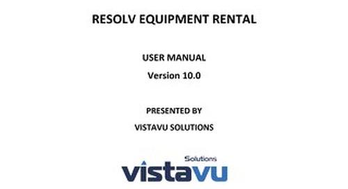 User Guide | Equipment Rental